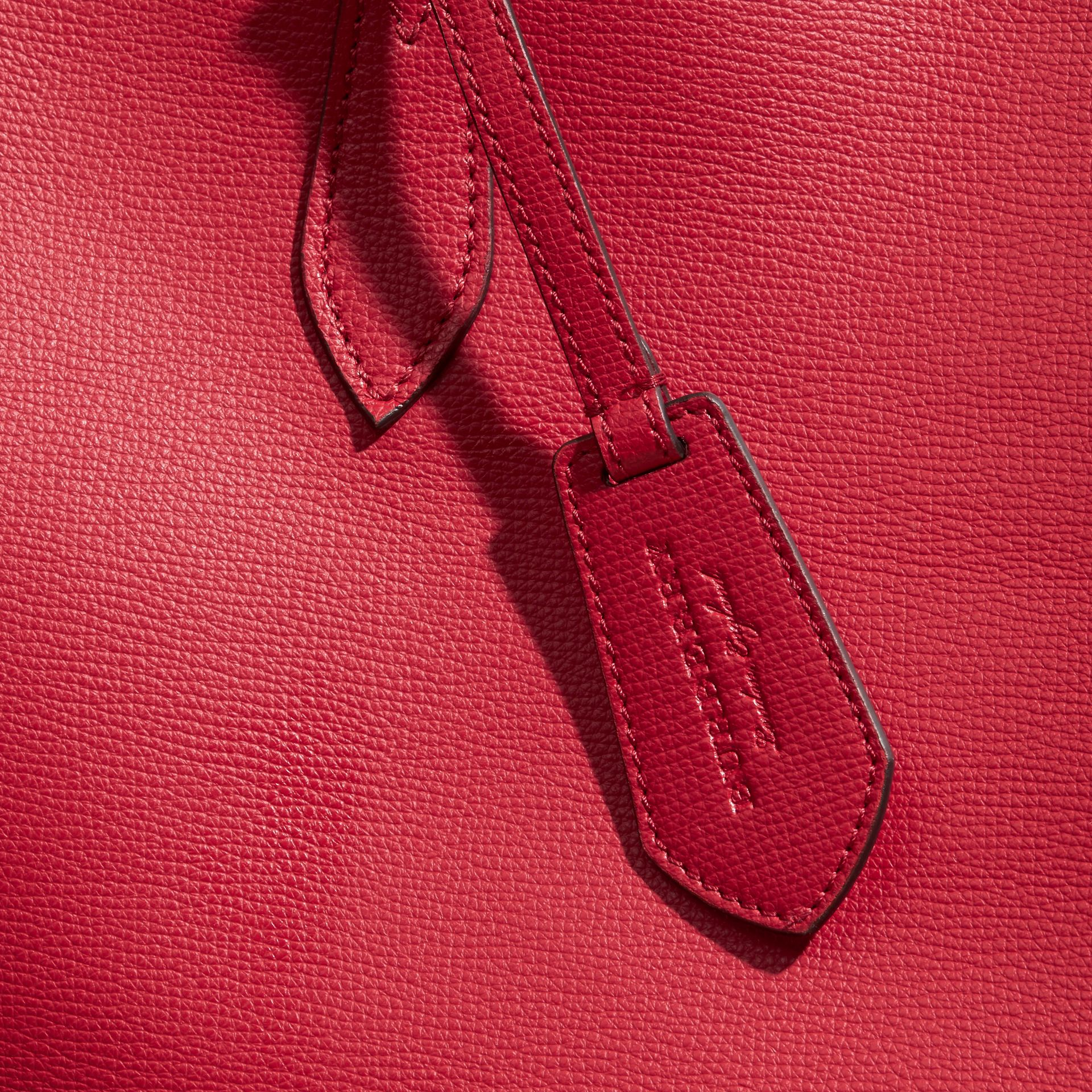 The Medium Reversible Tote in Haymarket Check and Leather Poppy Red - gallery image 7