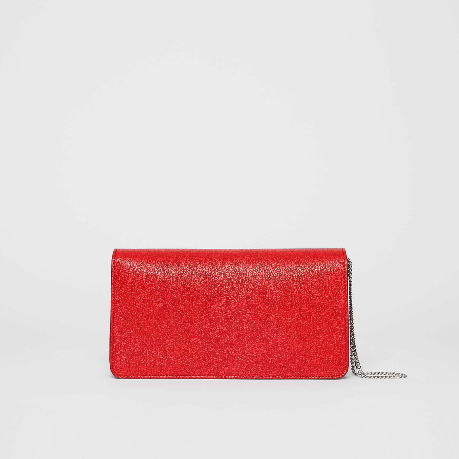 Leather Grace Clutch in Bright Military Red - Women | Burberry - gallery image 7