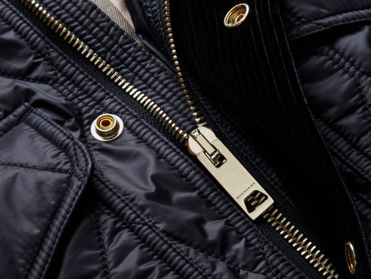 Diamond Quilted Field Jacket in Navy - Men | Burberry - cell image 1