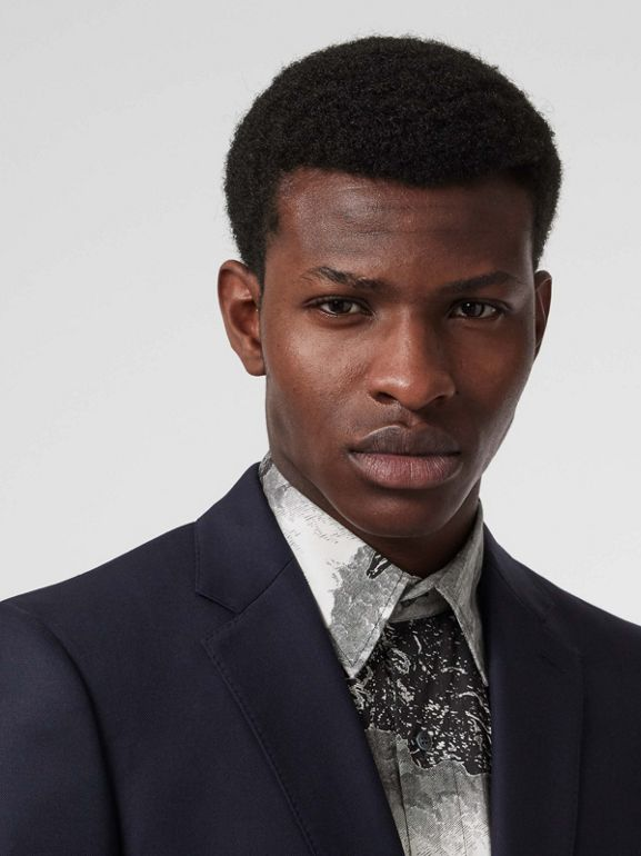 Classic Fit Wool Twill Suit in Navy - Men | Burberry United States - cell image 1