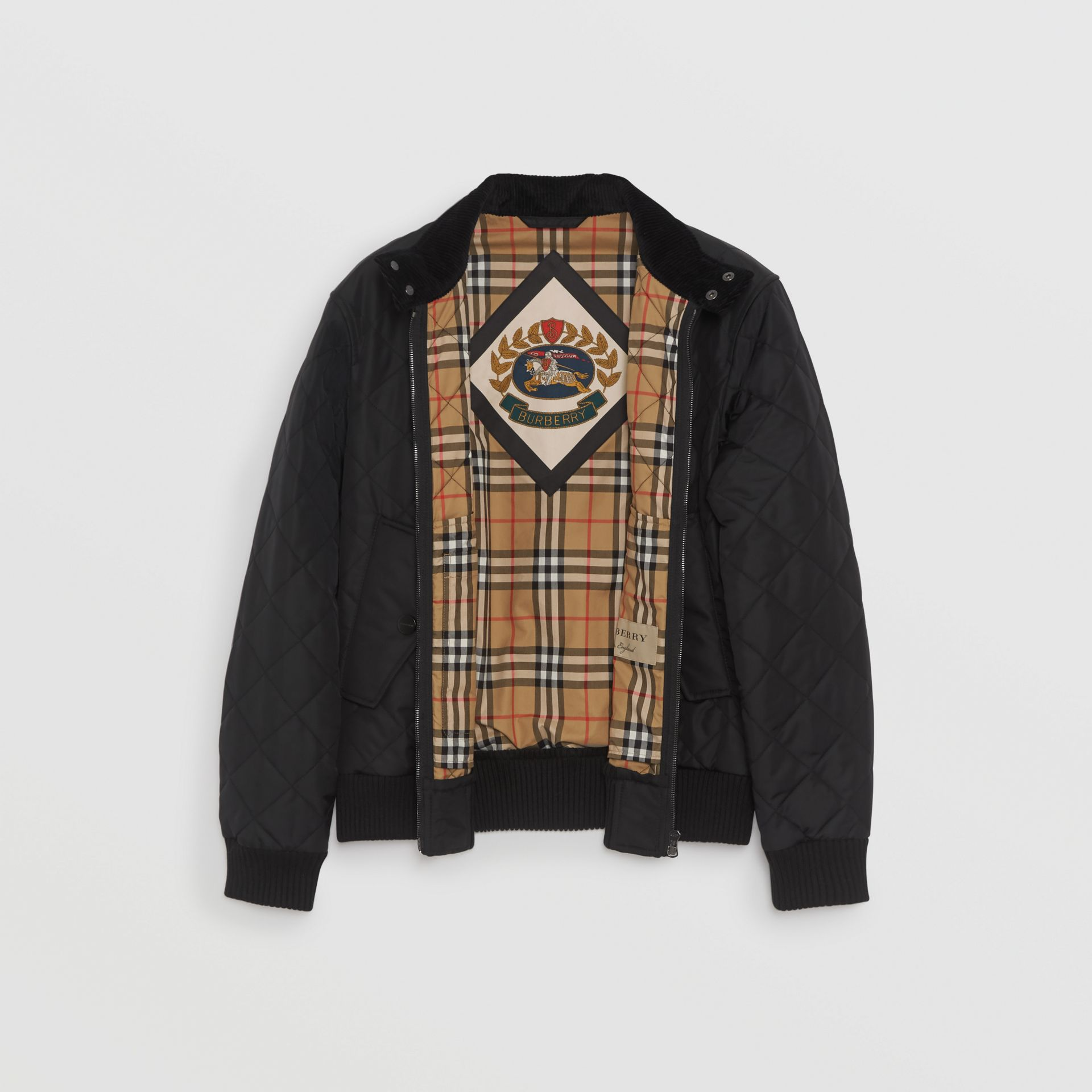 Veste Harrington thermorégulée matelassée (Noir) - Homme | Burberry - photo de la galerie 3