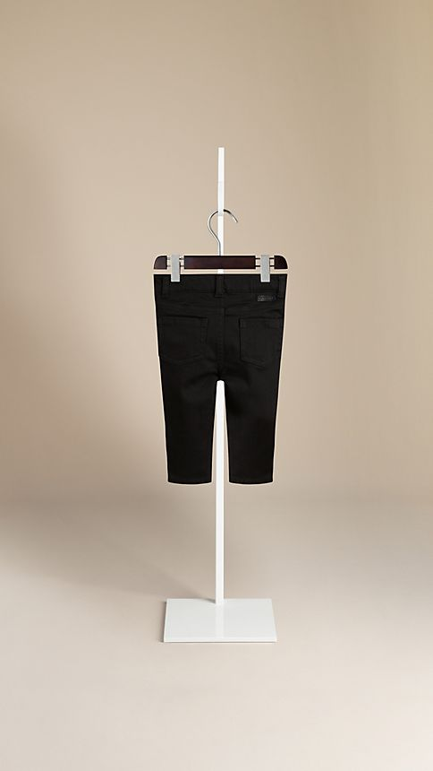 Black Langston Stretch Denim Jeans - Image 2
