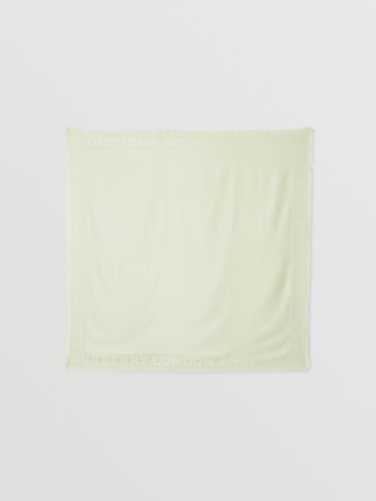 Monogram Silk Wool Jacquard Large Square Scarf in Pistachio