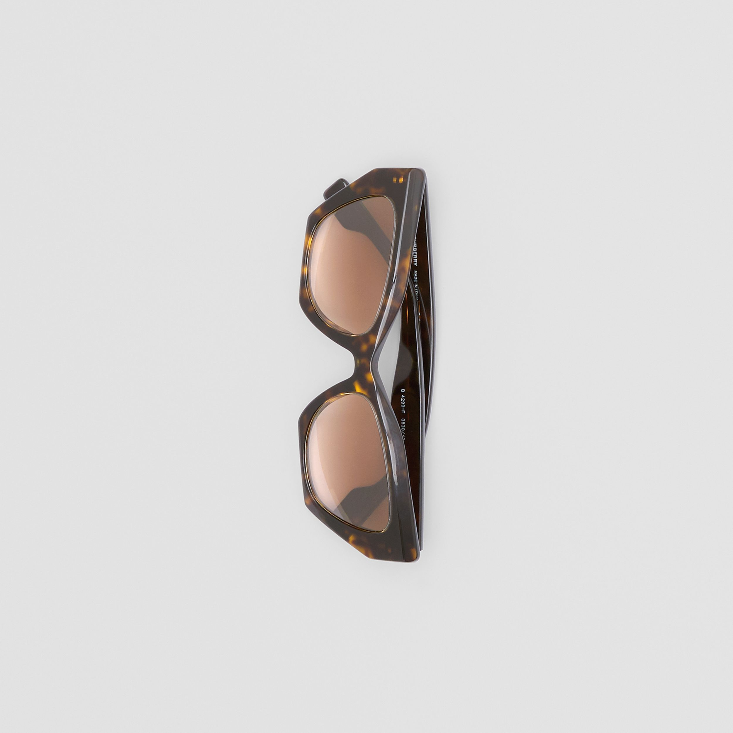 Butterfly Frame Sunglasses in Tortoiseshell - Women | Burberry - 3