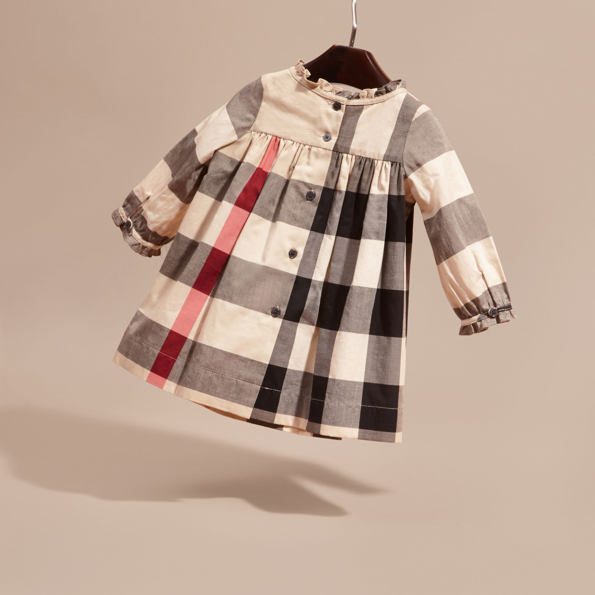 New classic check Check Cotton Dress with Ruffle Detail New Classic - gallery image 4