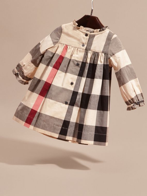 New classic check Check Cotton Dress with Ruffle Detail New Classic - cell image 3