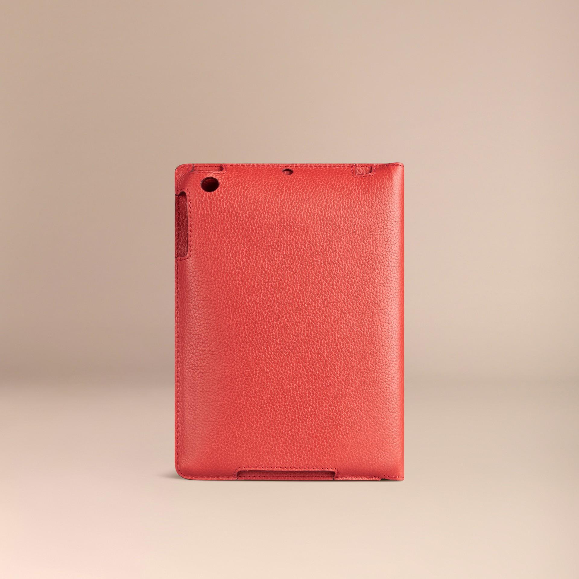 Orange red Grainy Leather iPad Mini Case Orange Red - gallery image 2