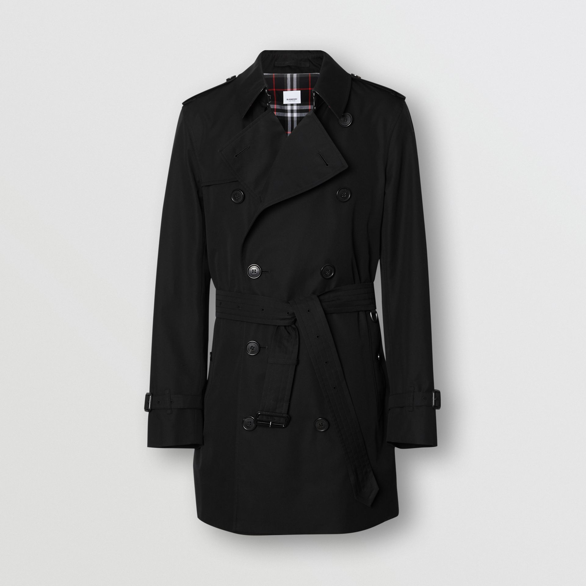 Cotton Gabardine Trench Coat in Black - Men | Burberry - gallery image 3