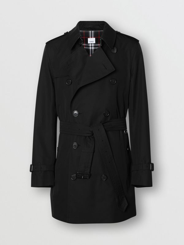 Cotton Gabardine Trench Coat in Black - Men | Burberry Canada - cell image 3