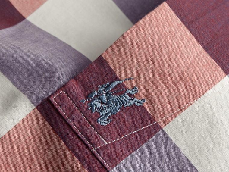 Cuivre rose clair Chemise vichy en coton à col boutonné Cuivre Rose Clair - cell image 1
