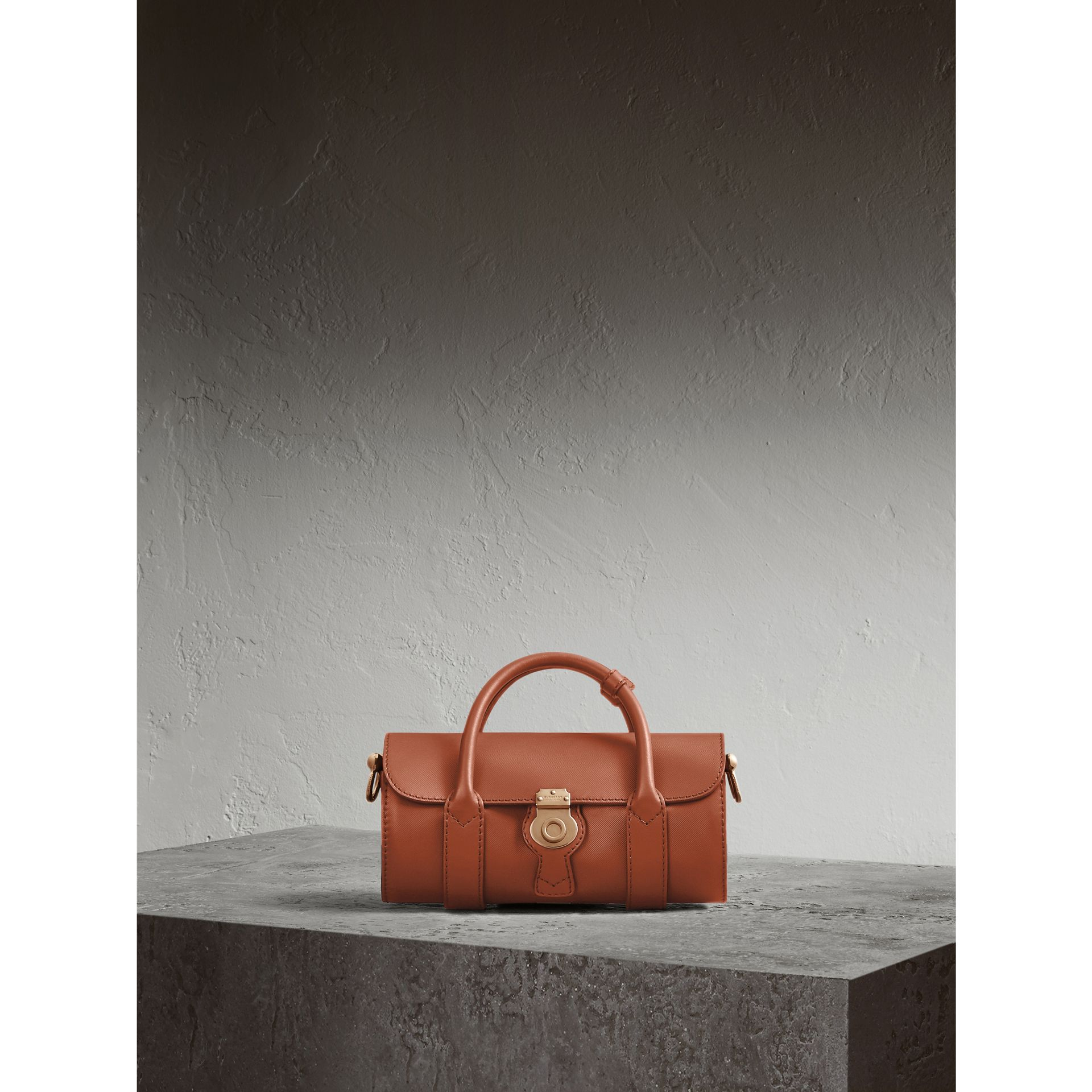 The Small DK88 Barrel Bag in Tan - Women | Burberry - gallery image 1