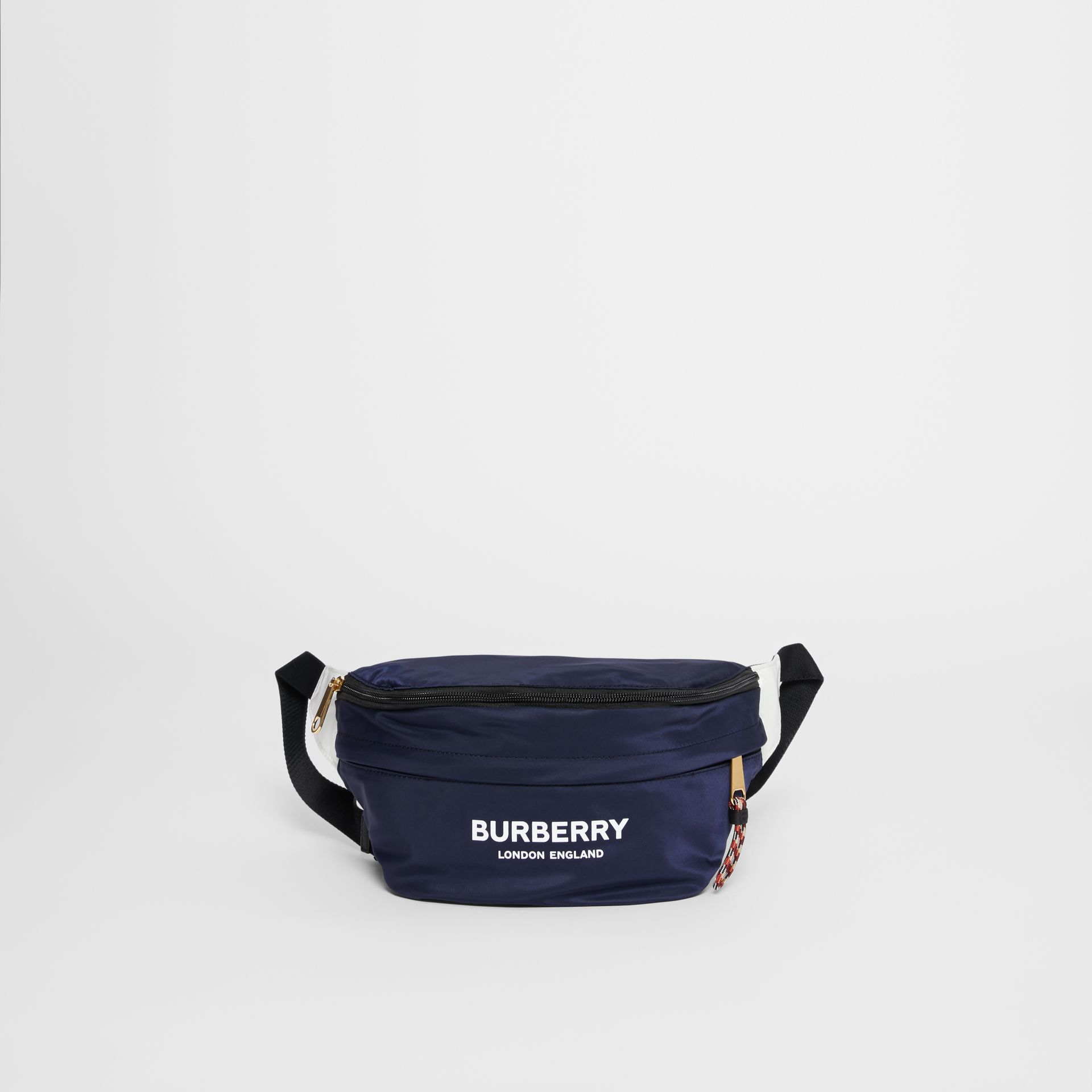 Logo Print Two-tone Convertible Bum Bag in Pearl - Children | Burberry - gallery image 7
