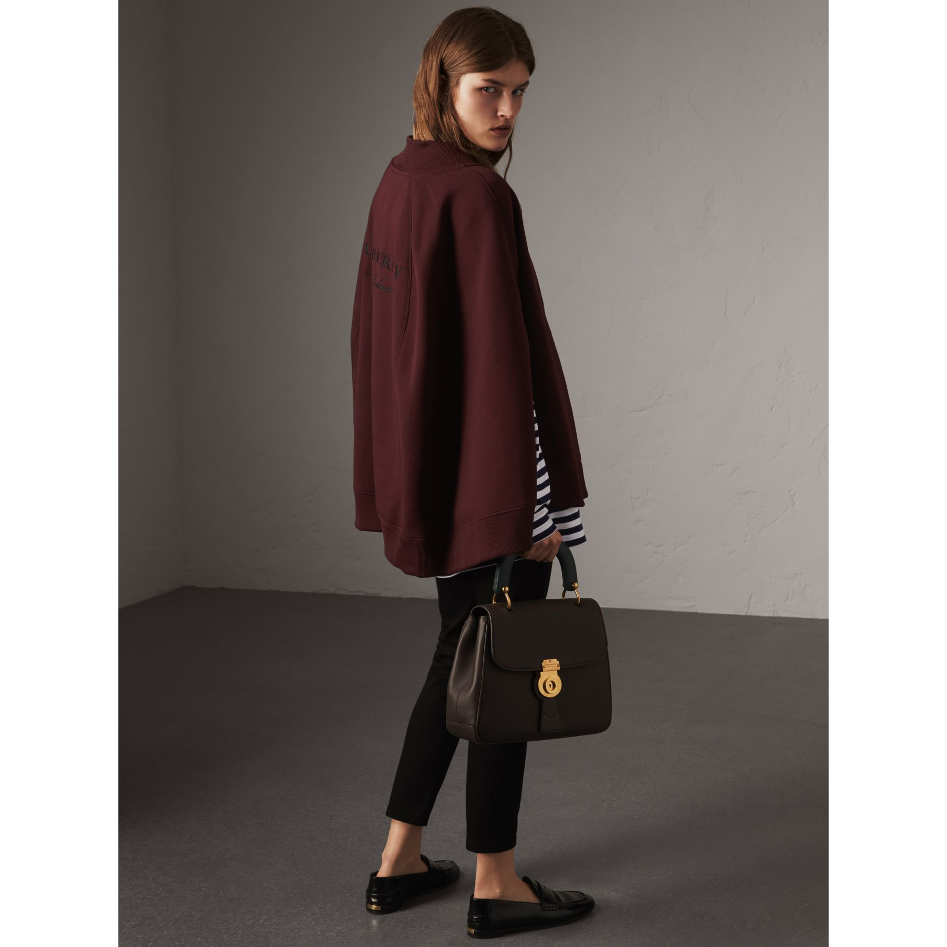 Embroidered Jersey Cape in Deep Claret - Women | Burberry - gallery image 1