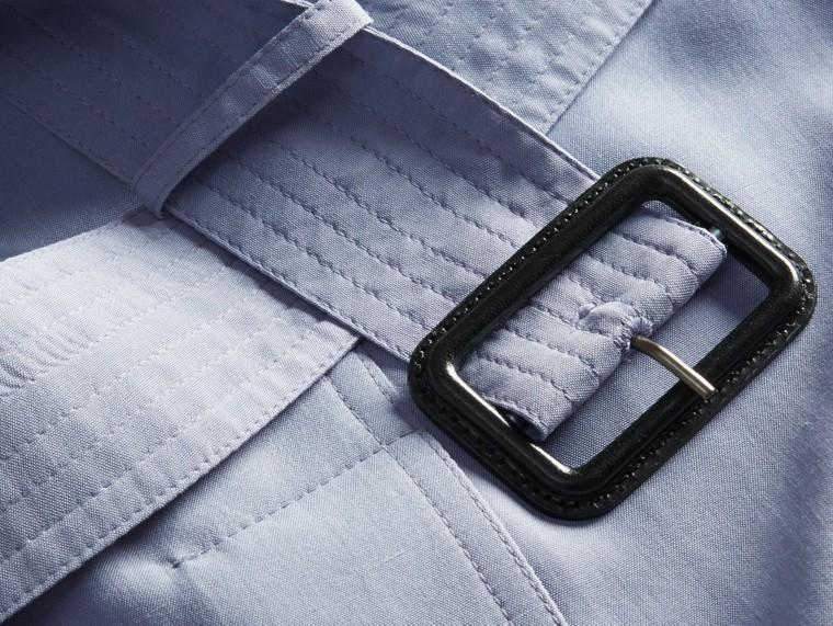Bleu pâle Trench-coat portefeuille léger en soie flammée - cell image 1