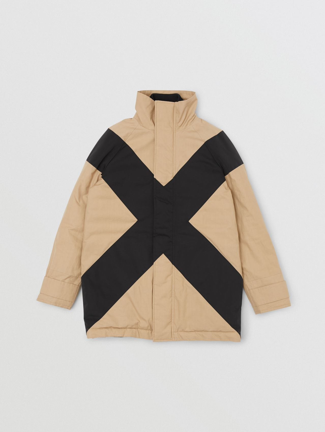 Panelled Down-filled Cotton Jacket in Honey