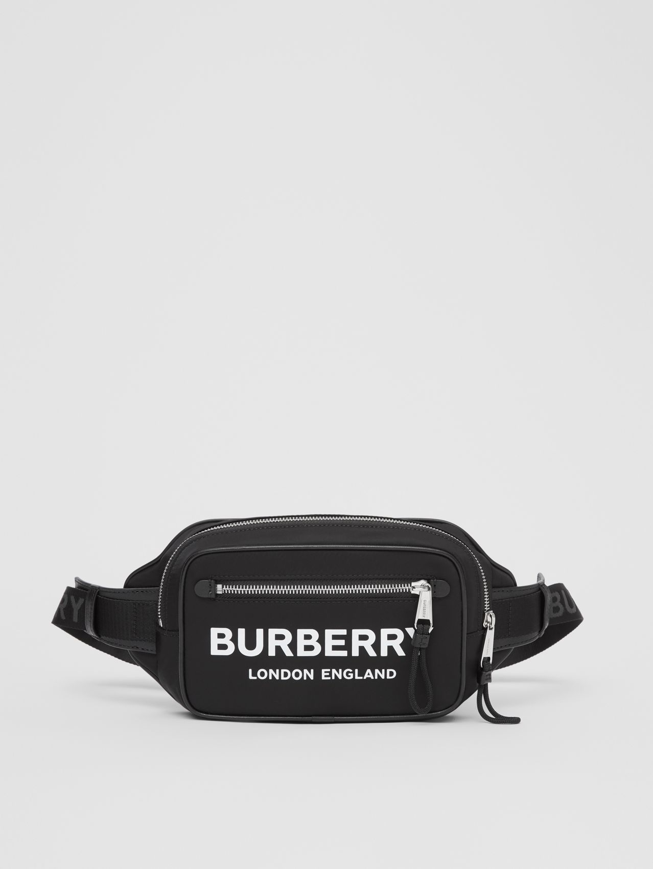 Logo Print ECONYL® Bum Bag (Black)