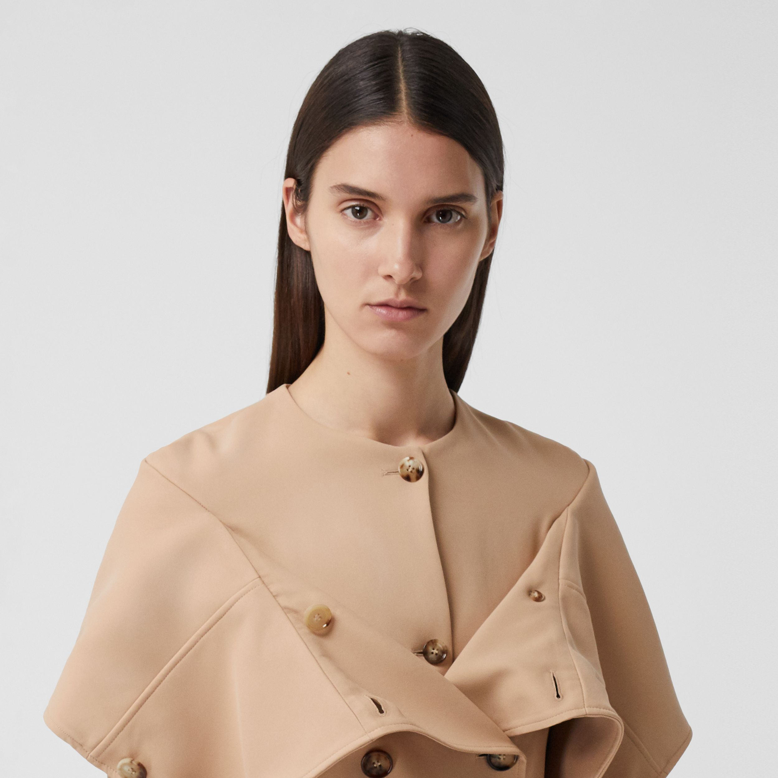 Silk Cady Reconstructed Trench Coat in Dark Biscuit - Women | Burberry Canada - 2