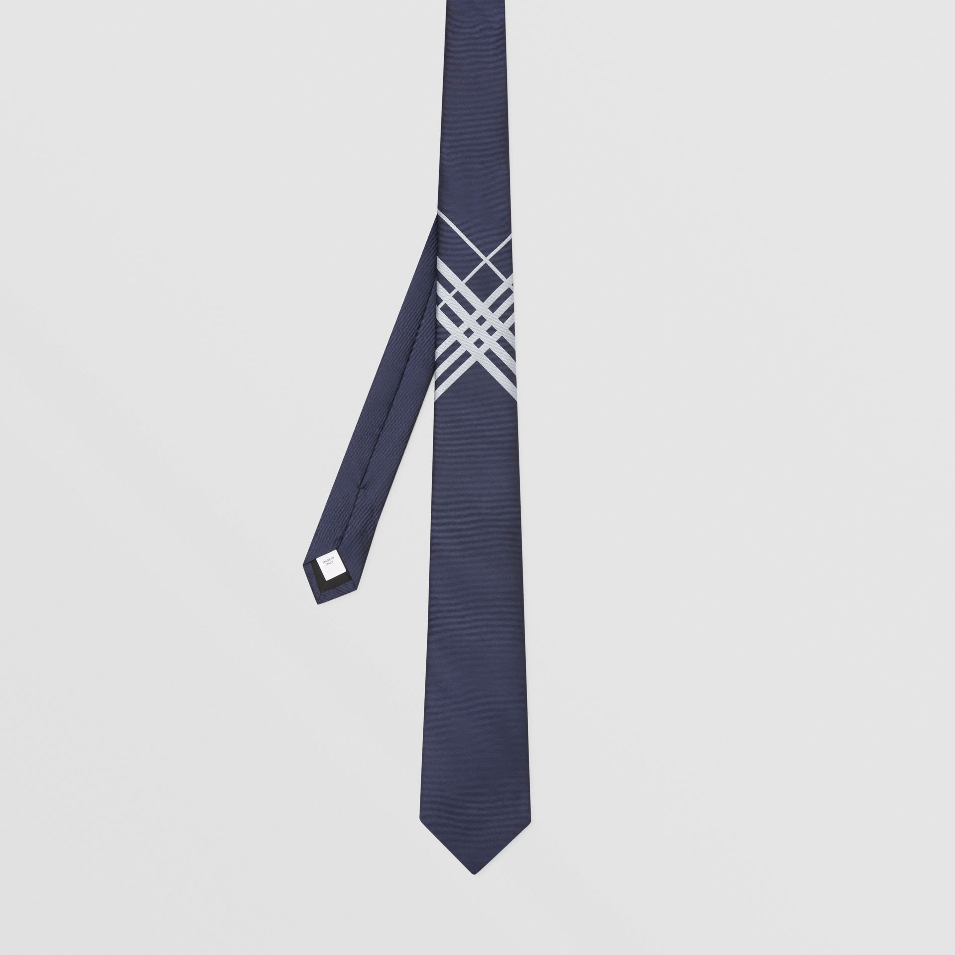 Classic Cut Check Silk Jacquard Tie in Navy - Men | Burberry Hong Kong S.A.R - gallery image 4