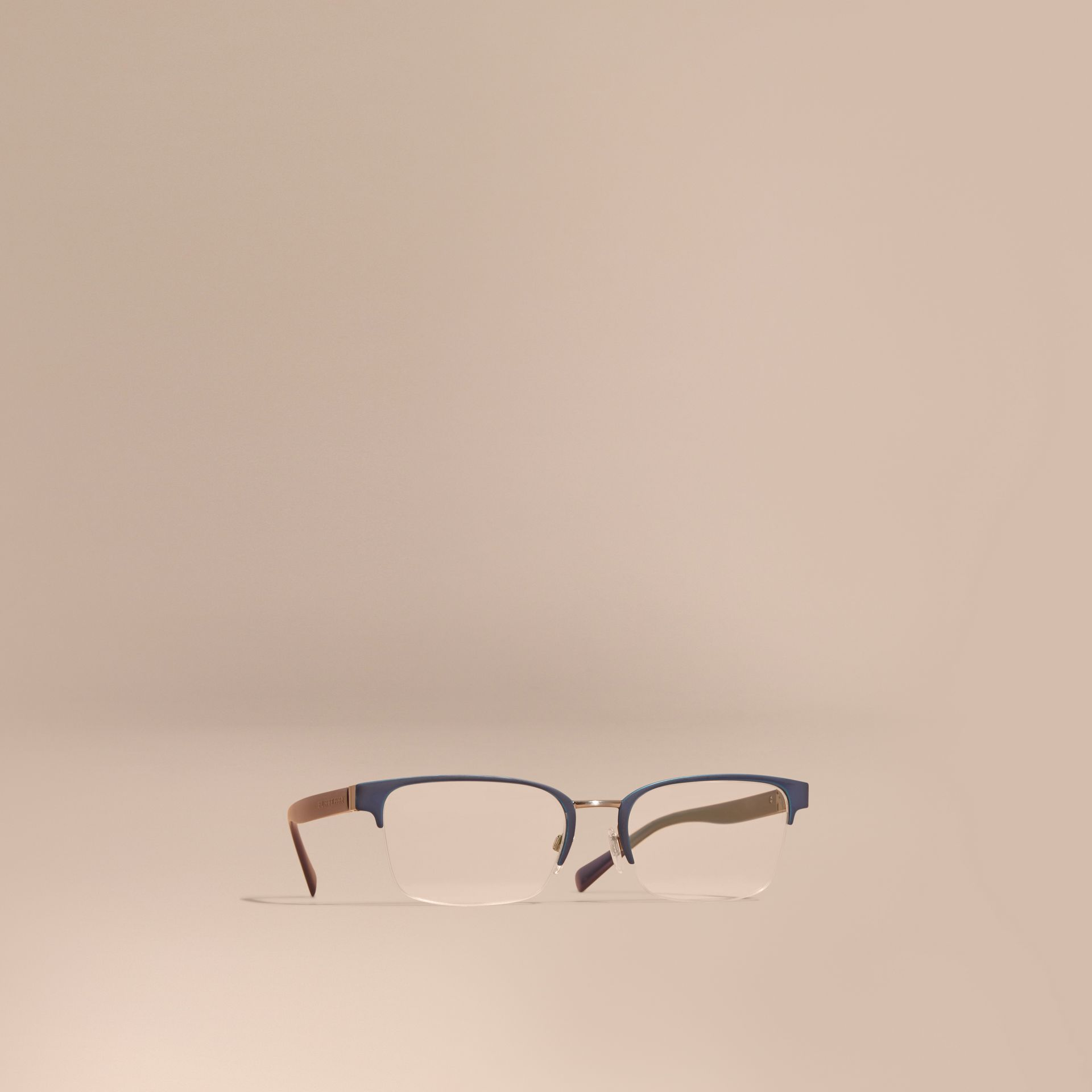Half-rimmed Rectangular Optical Frames Dark Navy - gallery image 1