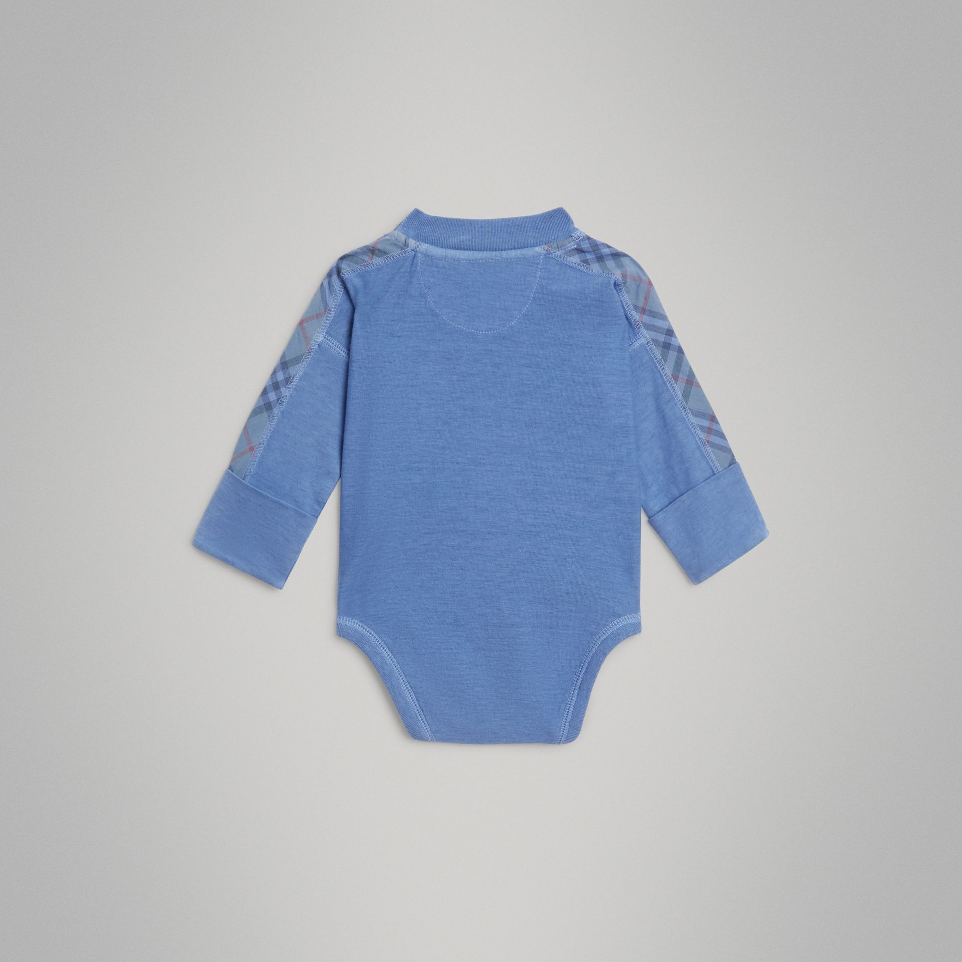 Check Cotton Three-piece Baby Gift Set in Multicolour - Children | Burberry - gallery image 7