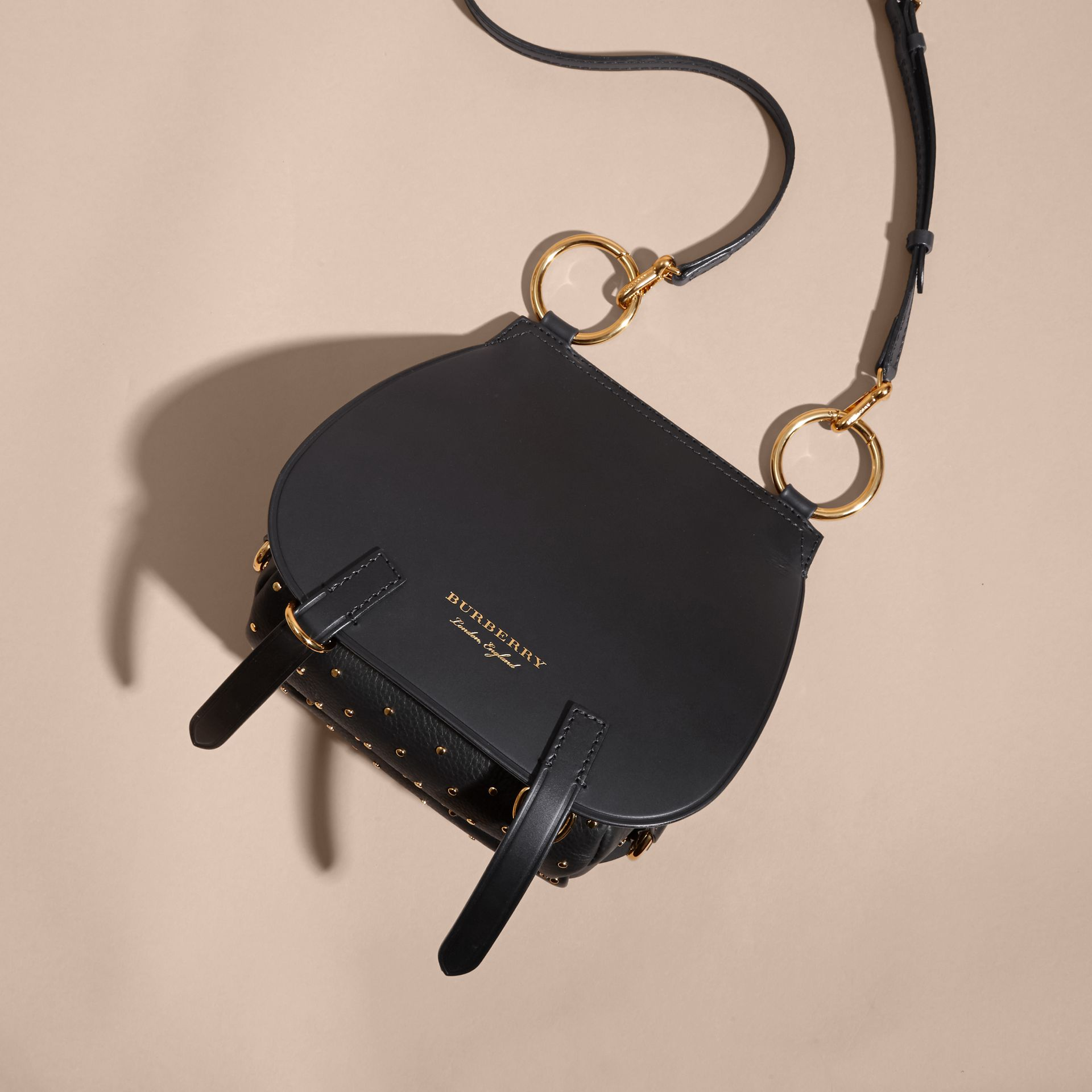 The Bridle Bag in Leather and Rivets in Black - gallery image 5