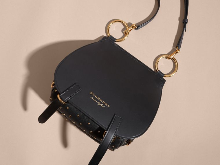 The Bridle Bag in Leather and Rivets in Black - cell image 4