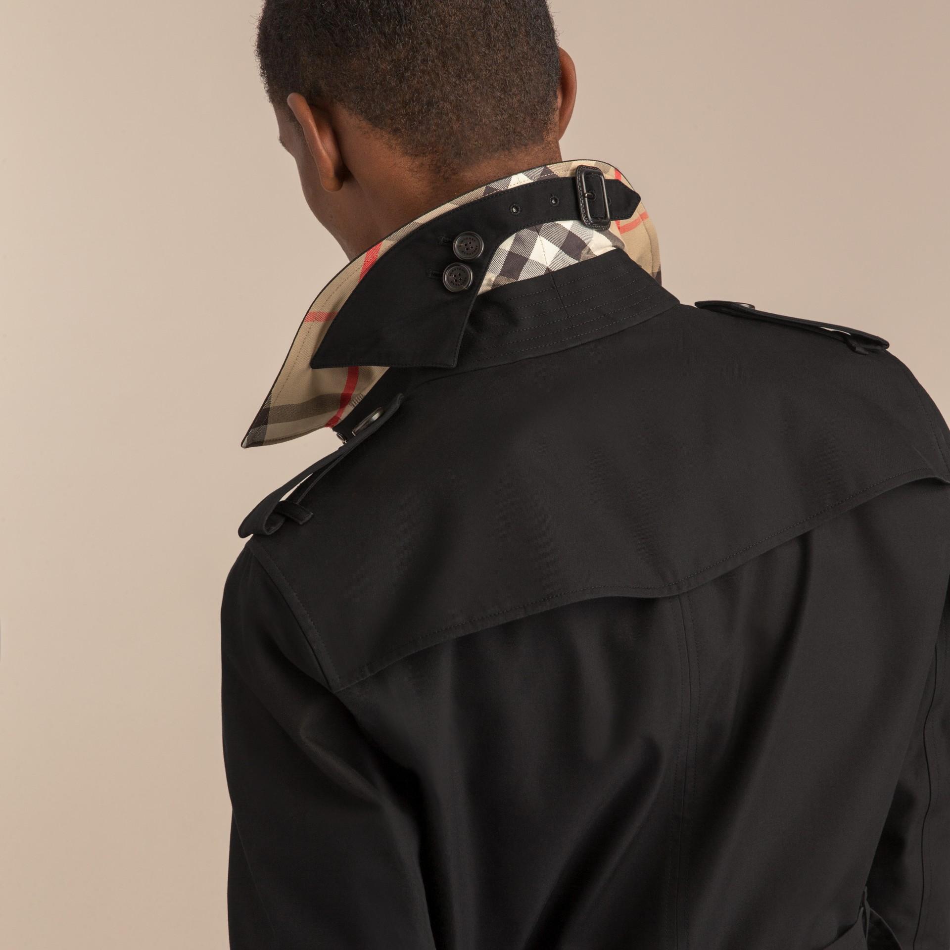 Negro Trench coat Chelsea – Trench coat Heritage corto Negro - imagen de la galería 8