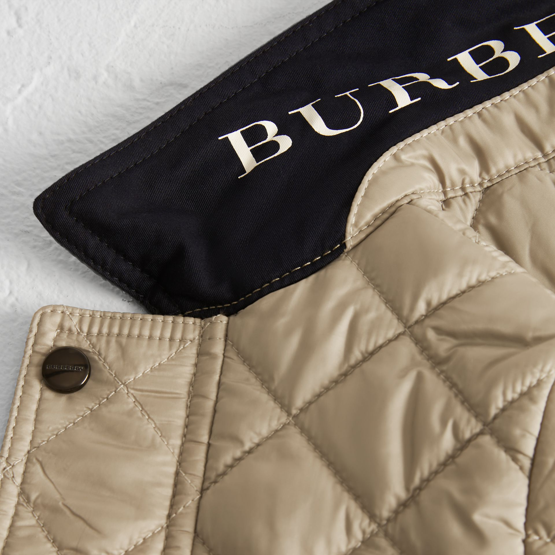 Lightweight Diamond Quilted Jacket in Mink - Children | Burberry - gallery image 1