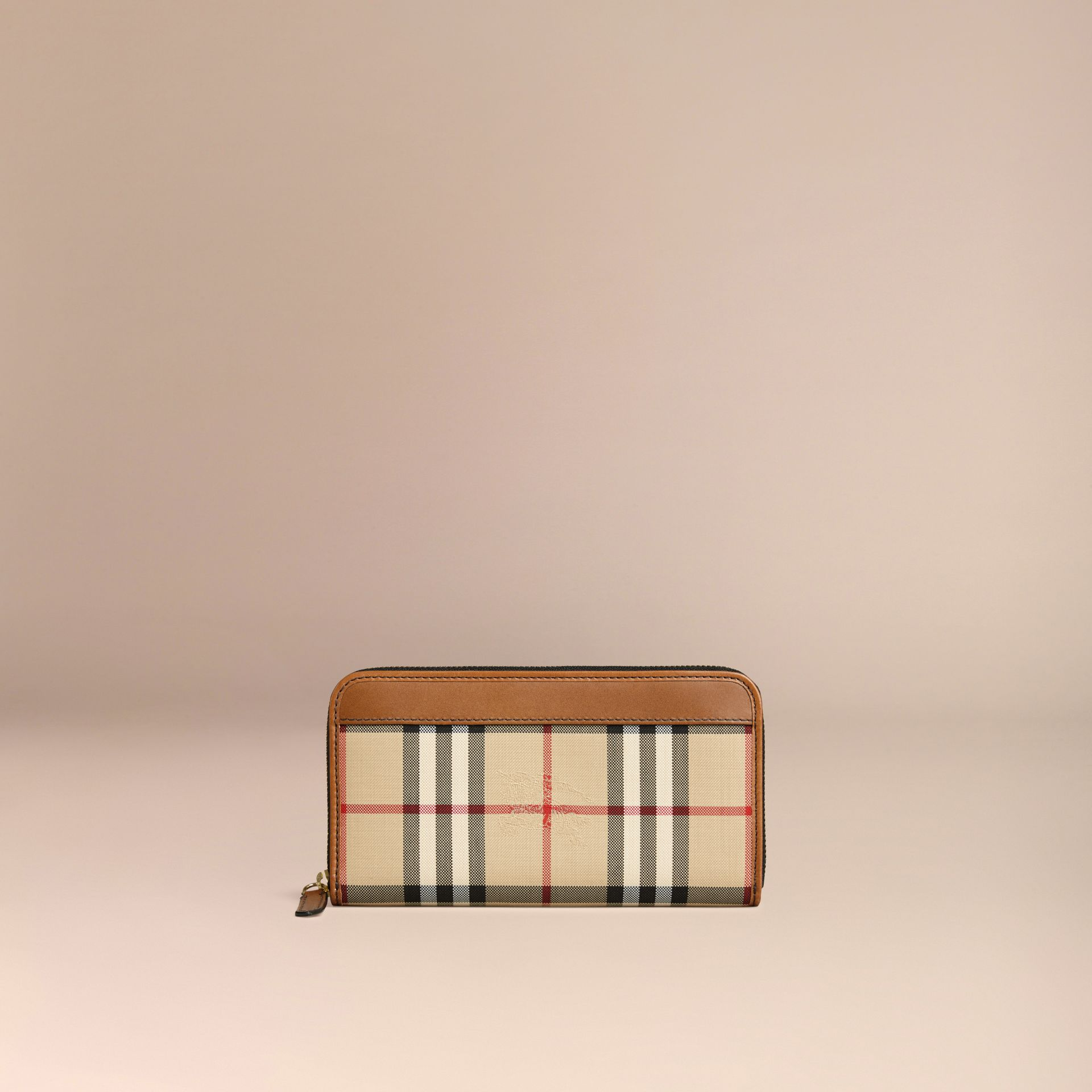 Horseferry Check Ziparound Wallet in Tan - gallery image 3