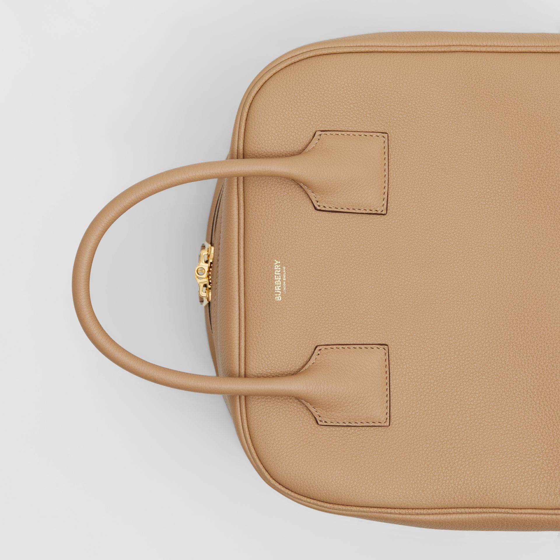 Medium Leather Cube Bag in Biscuit - Women | Burberry - gallery image 1
