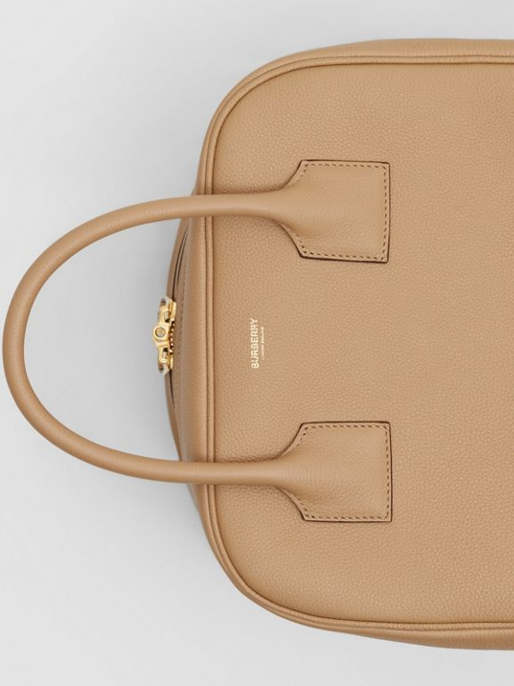 Medium Leather Cube Bag in Biscuit - Women | Burberry - cell image 1
