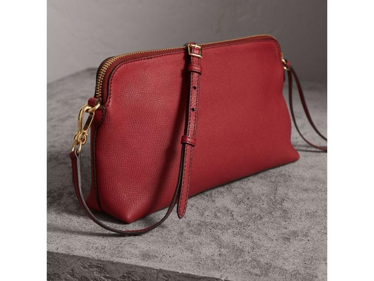 Grainy Leather Clutch Bag in Russet Red - Women | Burberry - cell image 4