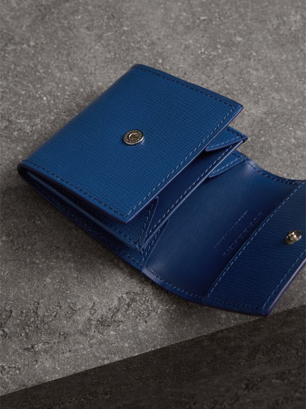 London Leather Coin Case in Deep Blue - Men | Burberry - cell image 3