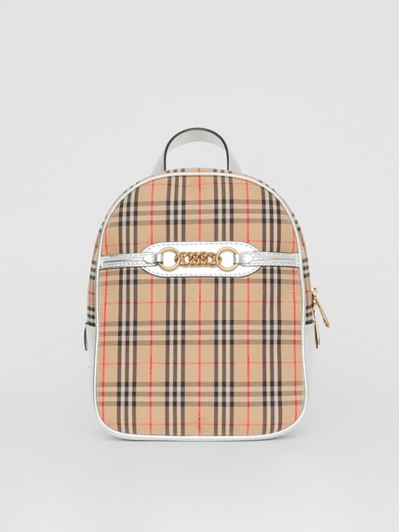 The 1983 Check Link Backpack in Silver