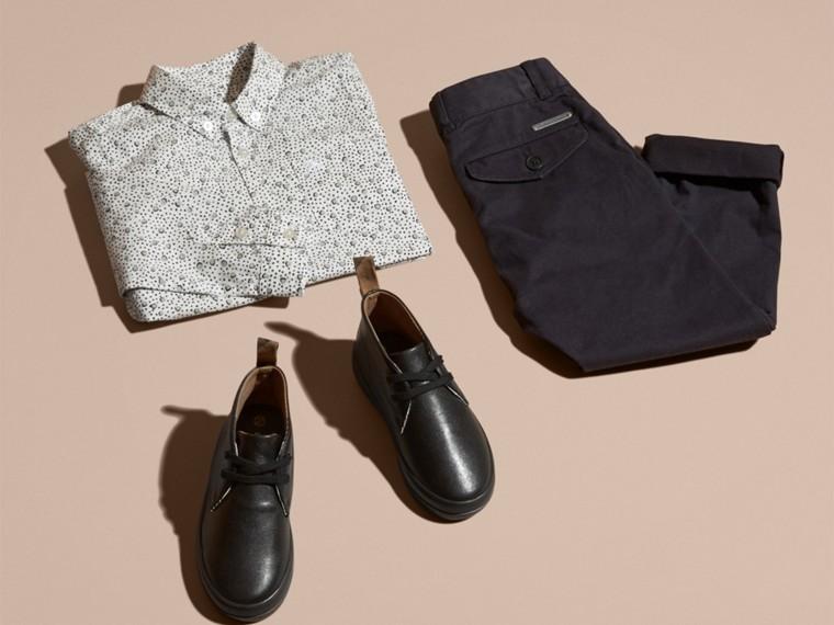 Branco Camisa de algodão com estampa de poás Branco - cell image 4