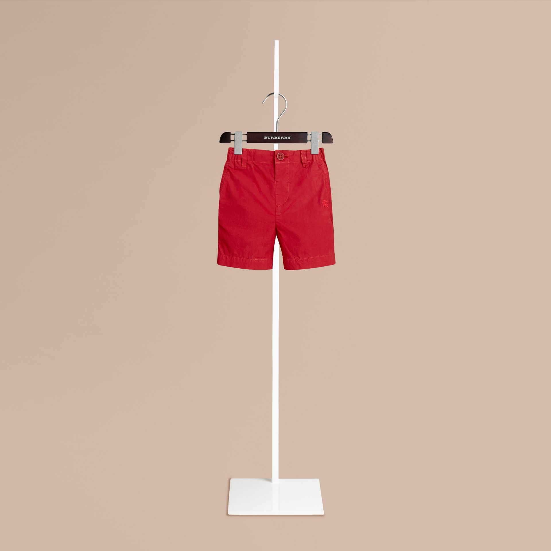 Parade red Cotton Military Chino Shorts Parade Red - gallery image 1