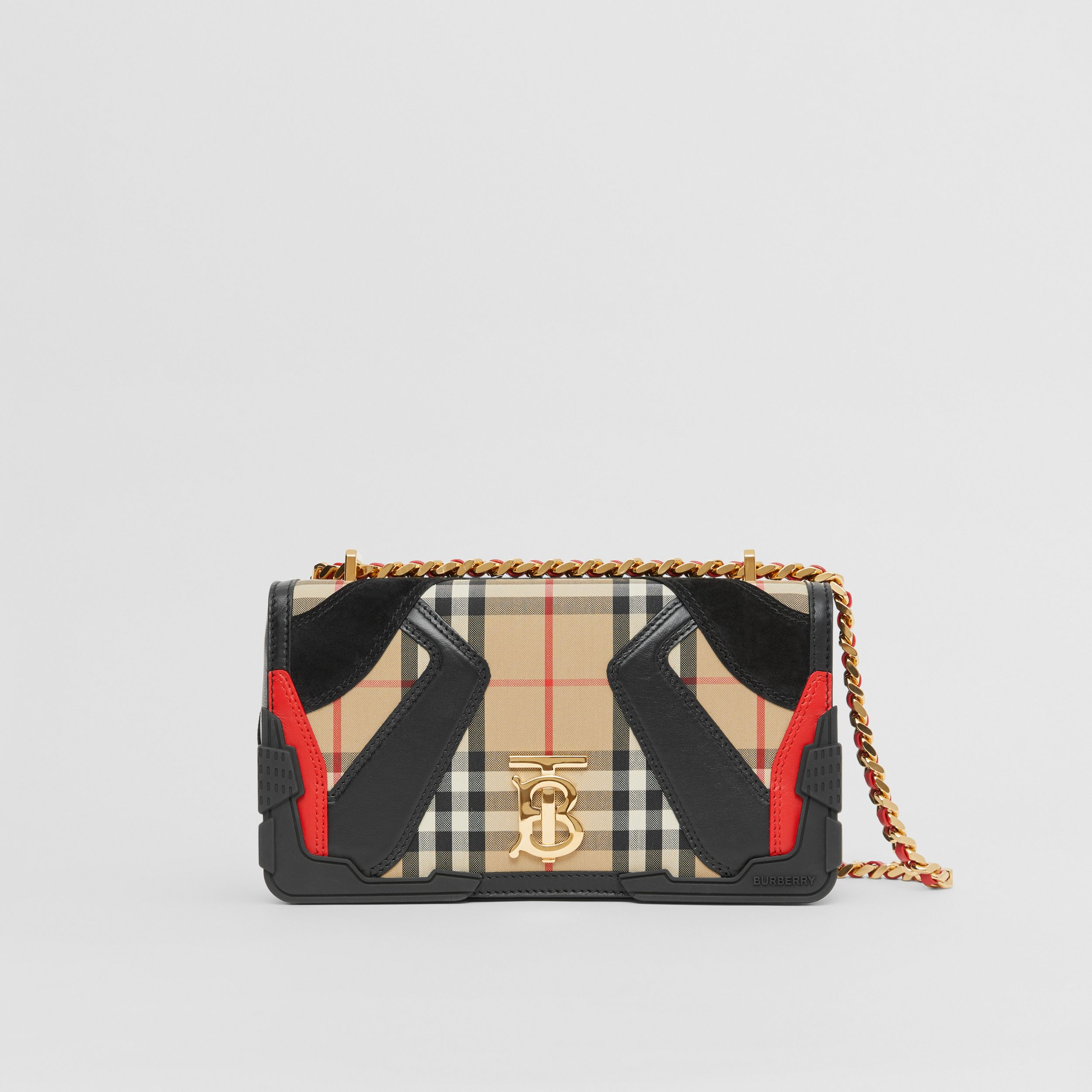 Small Appliqué Vintage Check Lola Bag in Archive Beige - Women | Burberry - 1