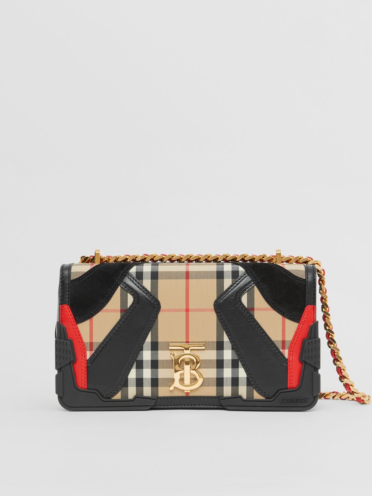 Small Appliqué Vintage Check Lola Bag in Archive Beige