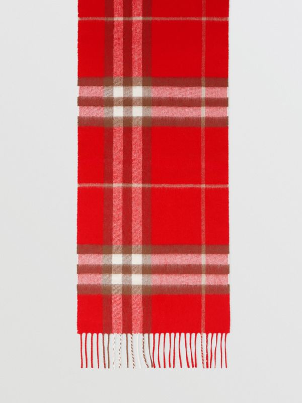 The Classic Check Cashmere Scarf in Red | Burberry - cell image 2