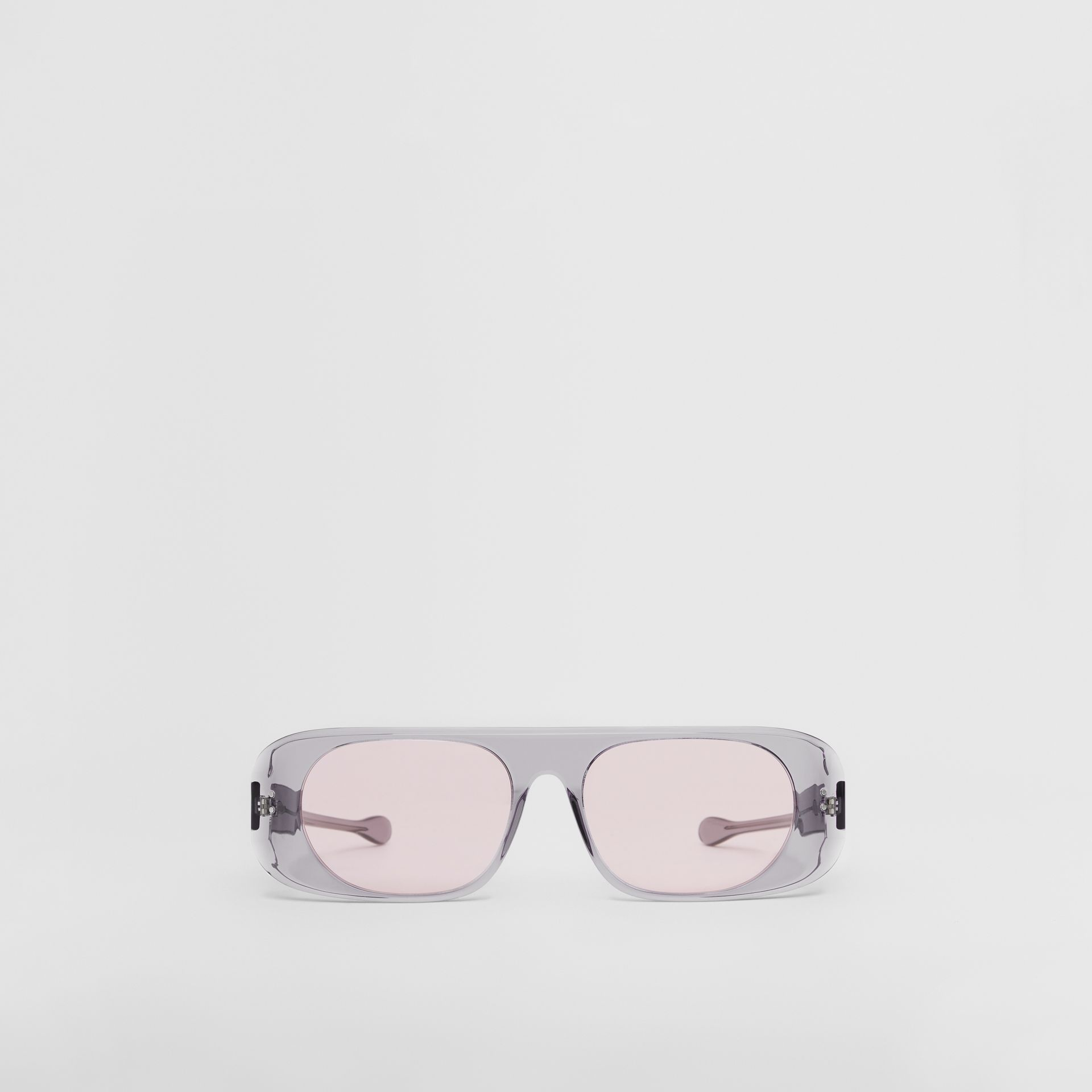 Blake Sunglasses in Transparent Grey | Burberry United States - gallery image 0