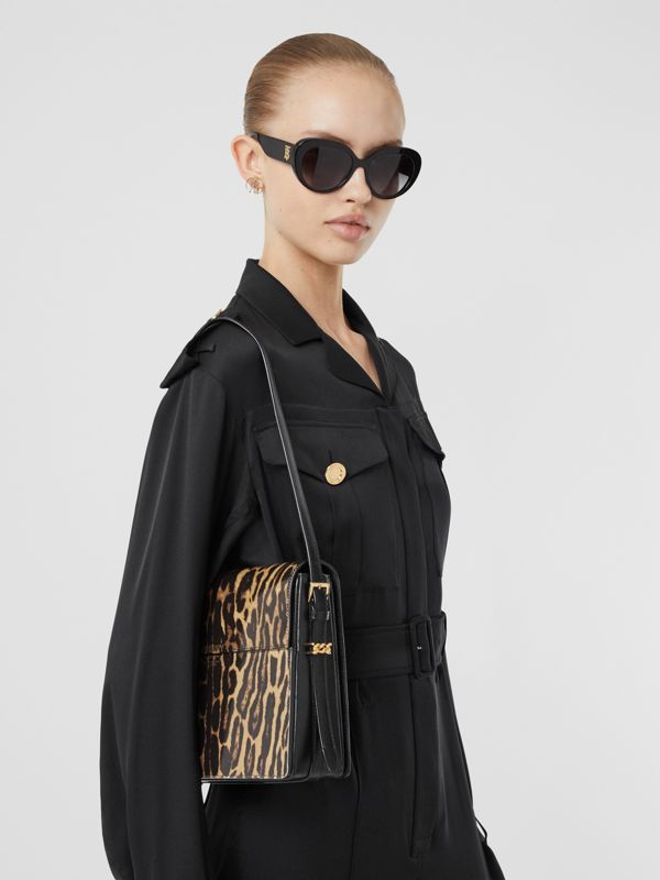 Large Leopard Print Leather Grace Bag in Dark Mustard - Women | Burberry Hong Kong S.A.R - cell image 2