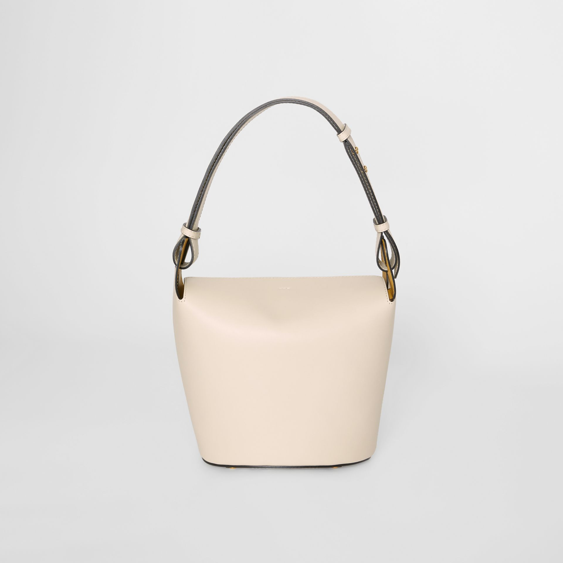 The Medium Leather Bucket Bag in Limestone - Women | Burberry - gallery image 7