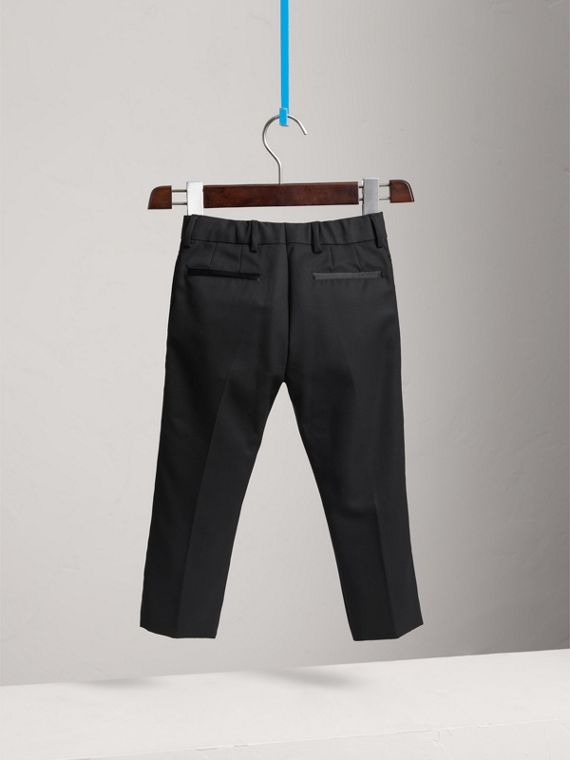 Tailored Wool Tuxedo Trousers in Black - Boy | Burberry Australia - cell image 3
