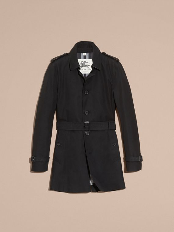 Trench coat in gabardine di cotone - Uomo | Burberry - cell image 3