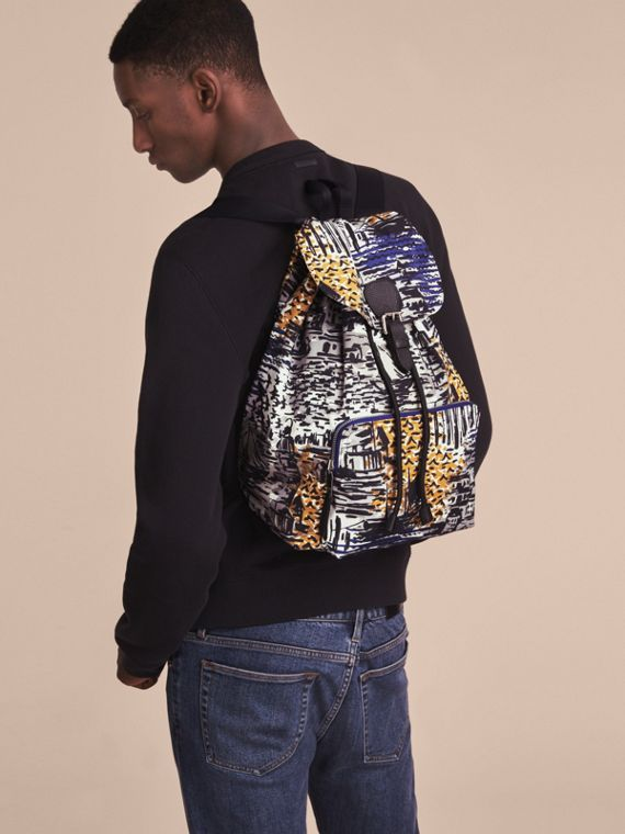 British Seaside Print Technical Packaway Rucksack