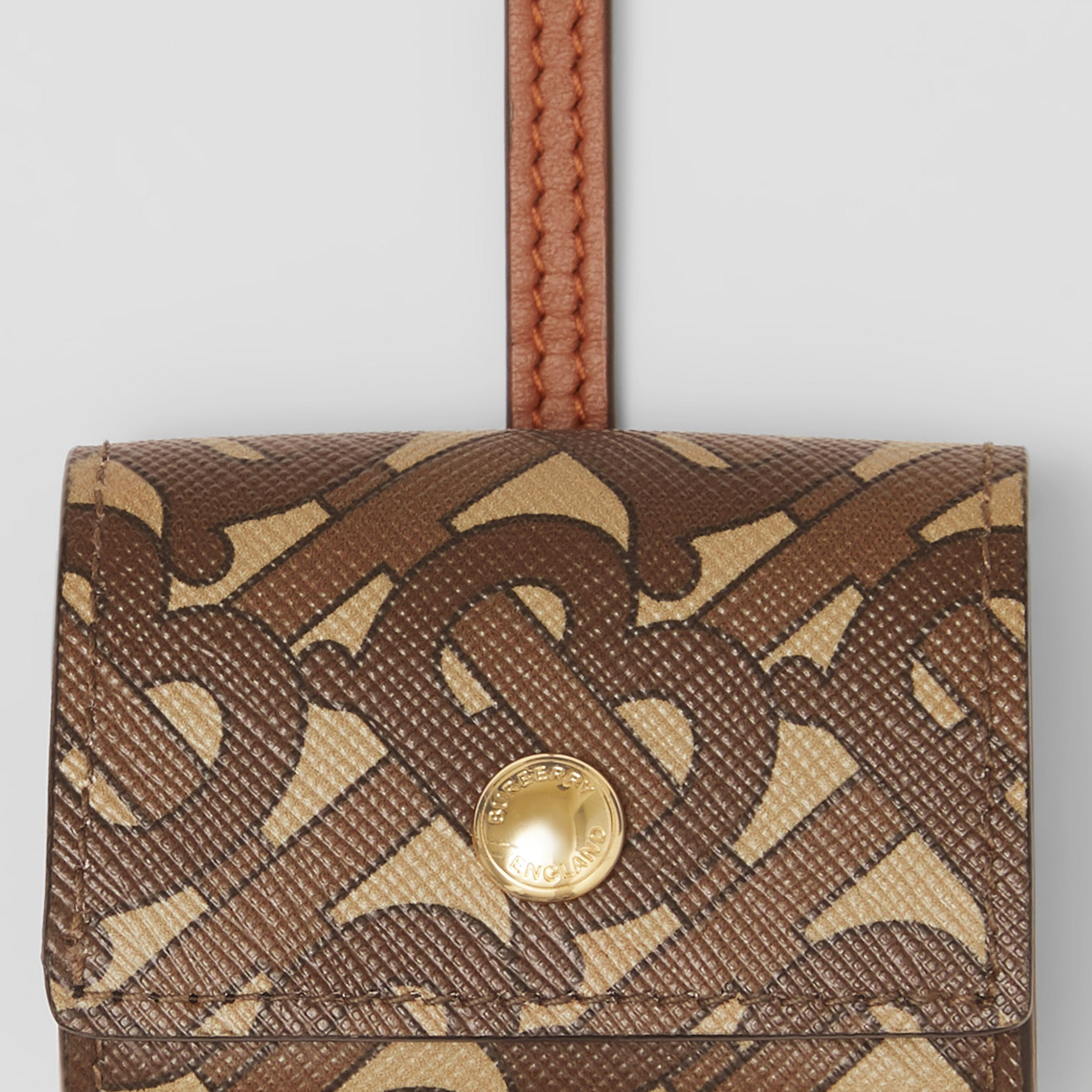 Monogram Print E-canvas AirPods Pro Case Lanyard in Bridle Brown | Burberry - 2