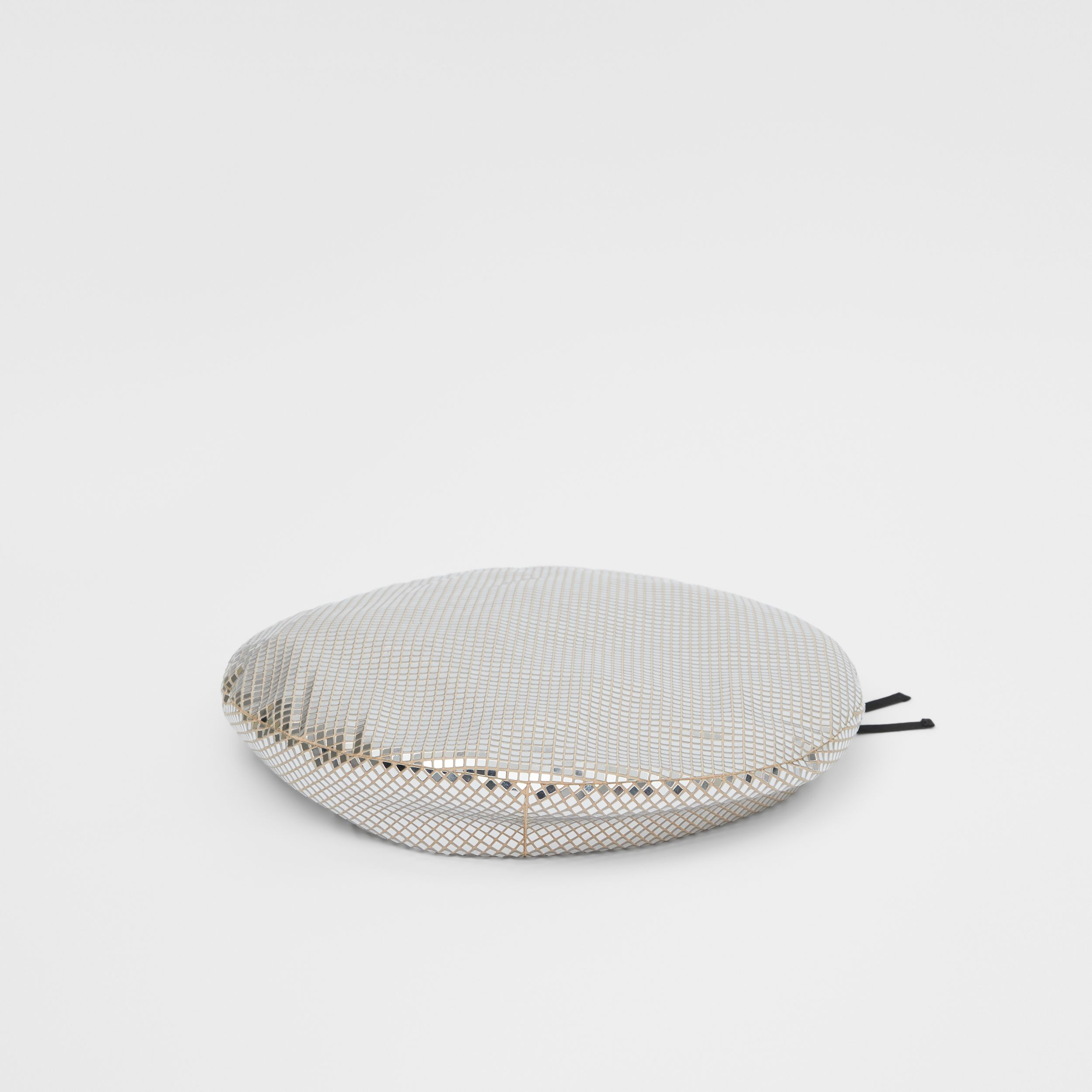 Mirrored Stretch Jersey Oversized Beret in Silver | Burberry - 1