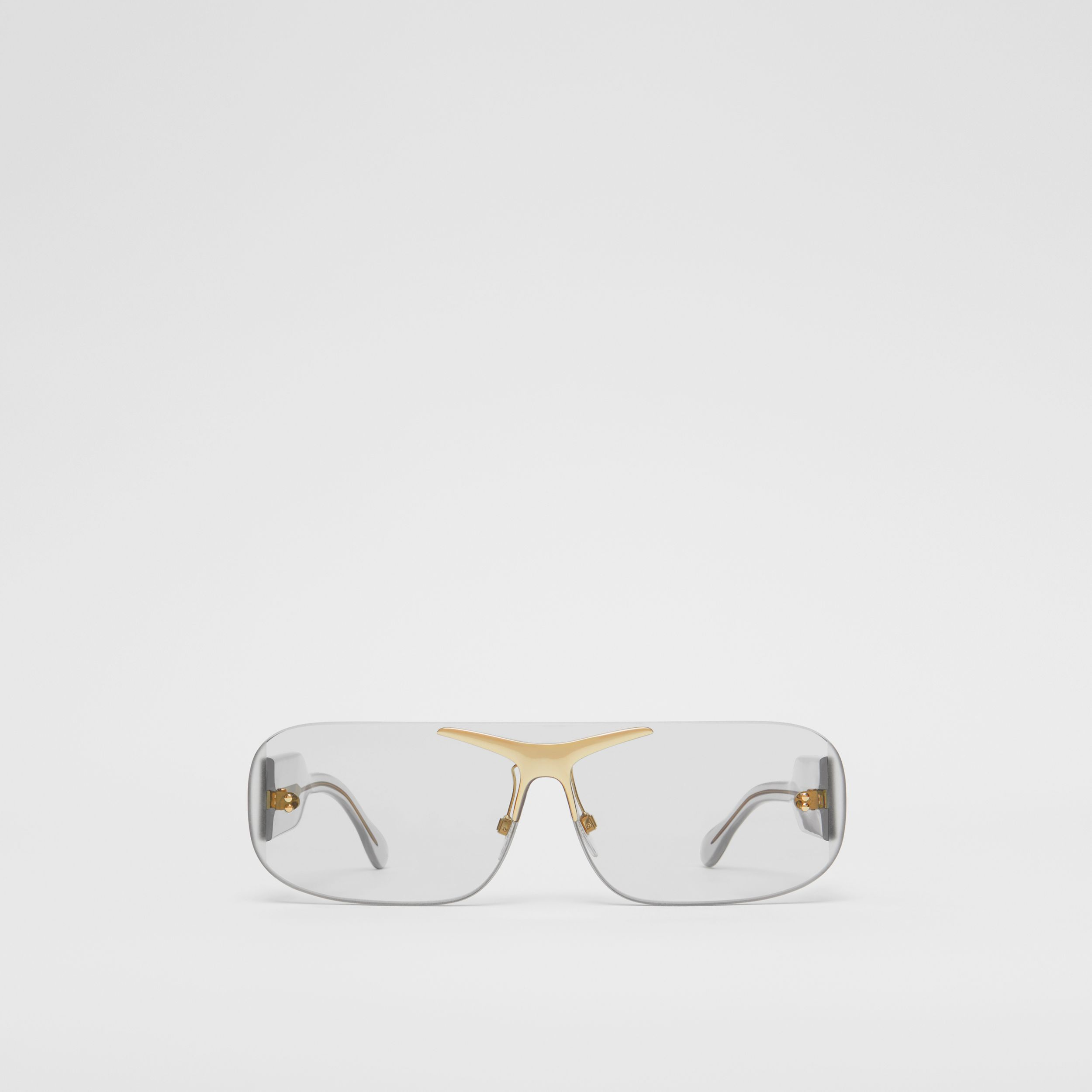 Blake Shield Sunglasses in Transparent | Burberry Australia - 1