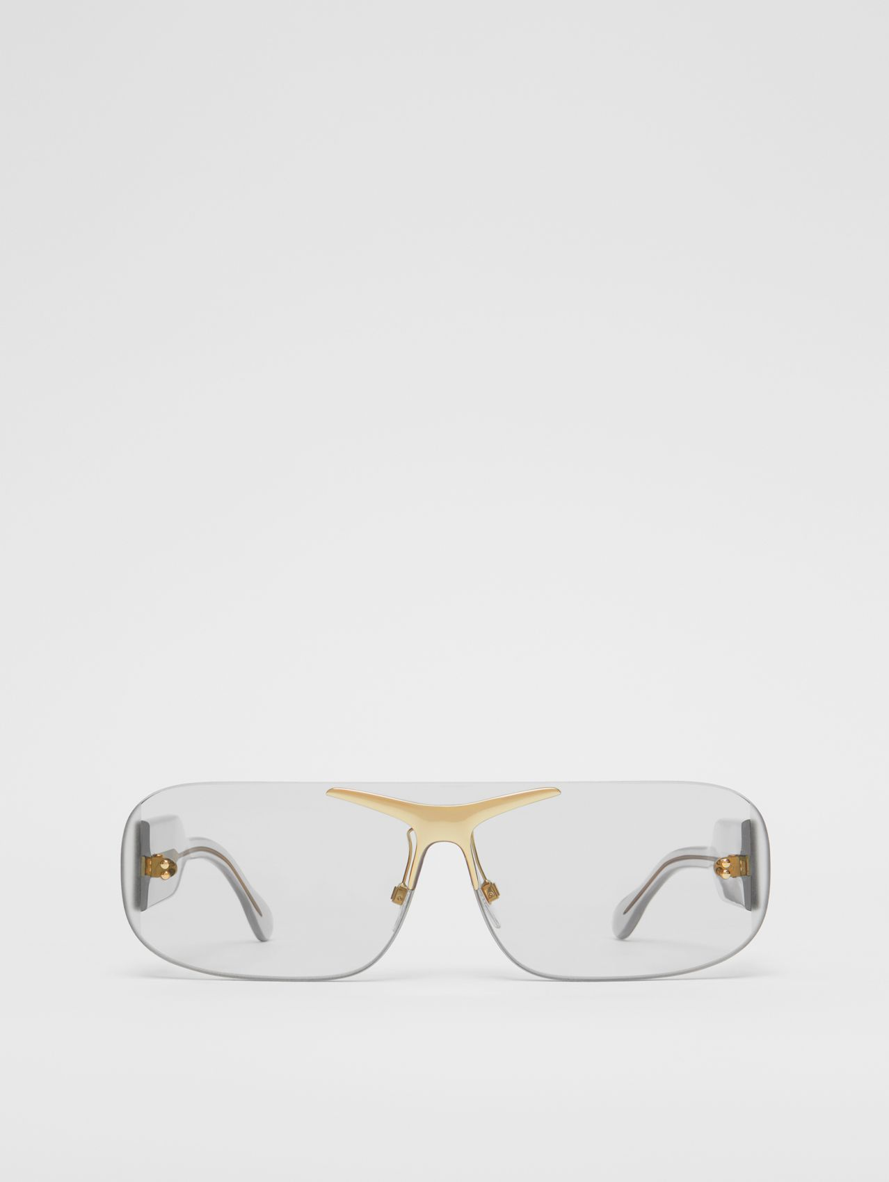 Blake Shield Sunglasses in Transparent