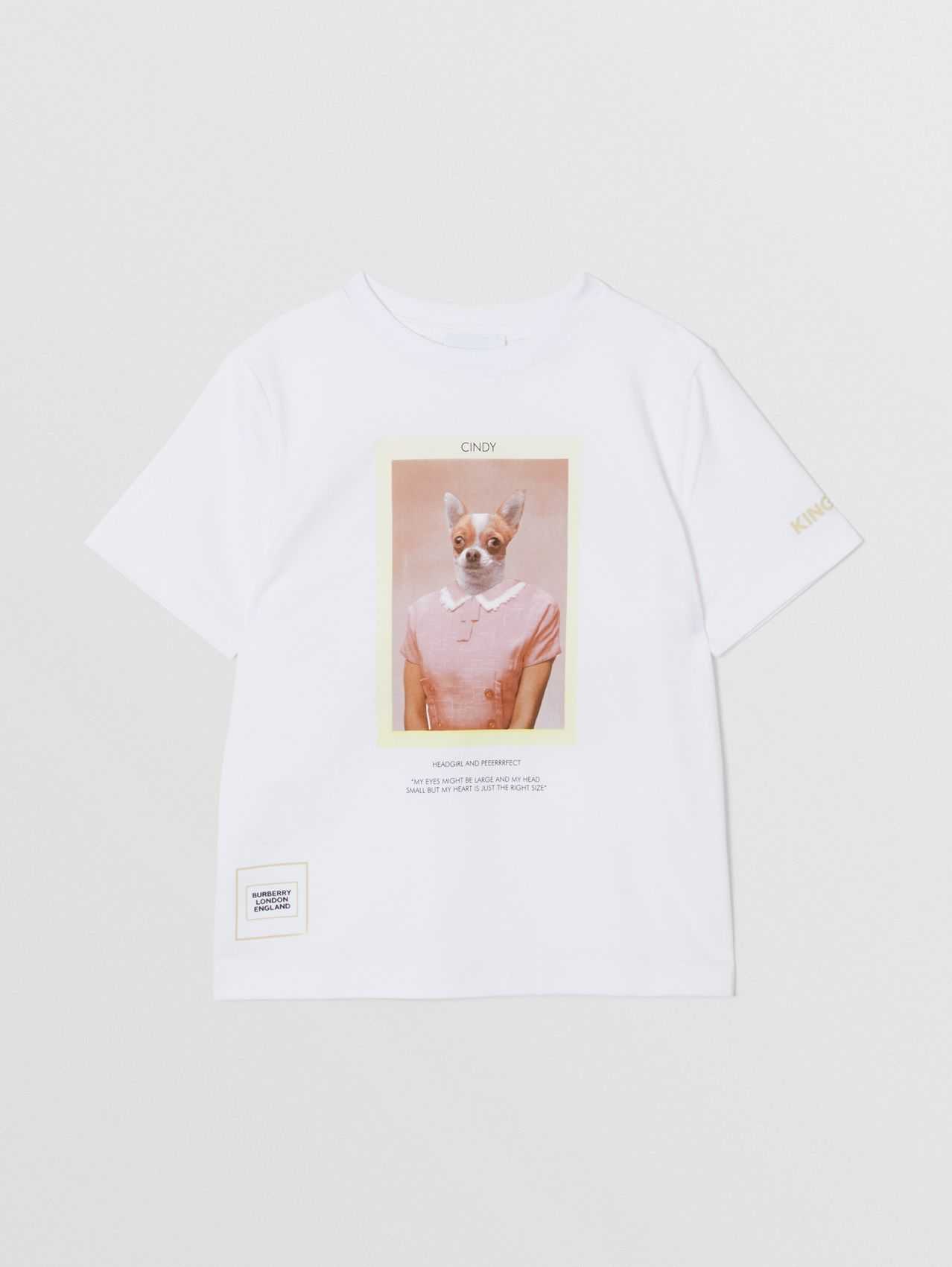 Character Print Cotton T-shirt in White